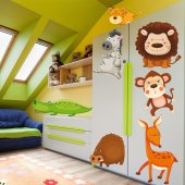 Autocollant Stickers enfant kit 7 animaux