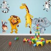 Autocollant Stickers enfant kit 9 animaux
