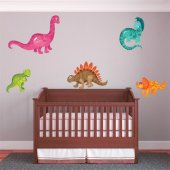 Autocollant Stickers enfant kit 5 dinosaures
