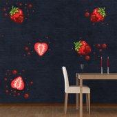 Kit stickers fraises choco
