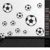 Kit Vinilo decorativo  12 balones fútbol