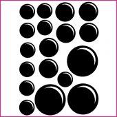 Kit Vinilo decorativo  18 burbujas