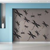 Kit Vinilo decorativo  24 libélulas