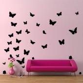 Kit Vinilo decorativo  30 mariposas