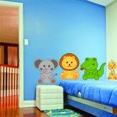 Kit Vinilo decorativo infantil 4 animales