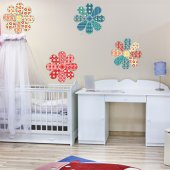 Kit Vinilo decorativo infantil 4 flores