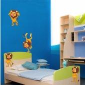 Kit Vinilo decorativo infantil 4 leones