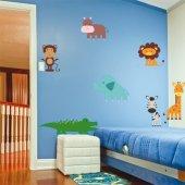 Kit Vinilo decorativo infantil 7 animales