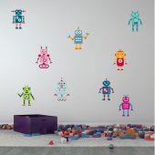 Kit Vinilo decorativo infantil 9 robots