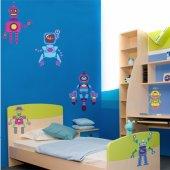 Komplet 6 naklejek Dla Dzieci - Roboty