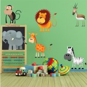 Komplet 6 naklejek Dla Dzieci - Zwierzęta