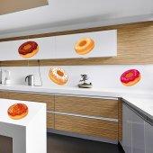 Komplet 7 naklejek - Pączki Donuts