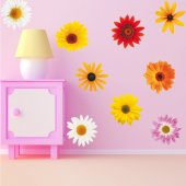 Komplet 9 naklejek ściennych - Kwiatki