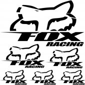 Komplet  naklejek - Fox Racing