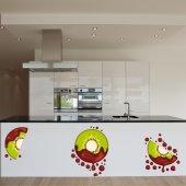 Komplet  naklejek - Owoce Kiwi