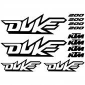 Ktm 200 Duke Aufkleber-Set