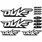 Ktm 200 duke Decal Stickers kit