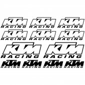 ktm Racing Aufkleber-Set