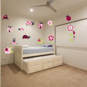 Ladybug Set Wall Stickers