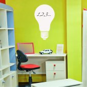 Light Bulb - Whiteboard Wall Stickers