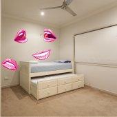 Lips Set Wall Stickers