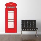 London Phone Box Wall Stickers