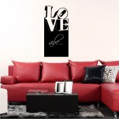 Love - Chalkboard / Blackboard Wall Stickers