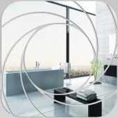Miroir Acrylique Plexiglass Carré Spirales 1