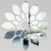 Miroir Acrylique Plexiglass Fleur 2