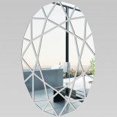 Miroir Acrylique Plexiglass Oval Mosaïquee