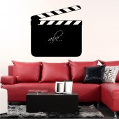 Movie Clapper - Chalkboard / Blackboard Wall Stickers