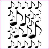 Musical Notes Set Wall Stickers