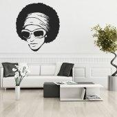 Naklejka ścienna - Afro