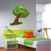 Naklejka ścienna Dla Dzieci - Drzewo i Jabłka