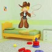 Naklejka ścienna Dla Dzieci - Dziewczyna Kowboj