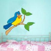 Naklejka ścienna Dla Dzieci - Gałązka i Ptaki