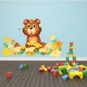 Naklejka ścienna Dla Dzieci - Głodny Niedźwiadek