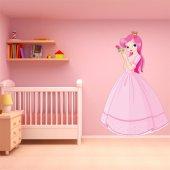 Naklejka ścienna Dla Dzieci - Księżniczka z różą