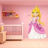 Naklejka ścienna Dla Dzieci - Księżniczka z serduszkiem