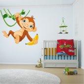 Naklejka ścienna Dla Dzieci - Małpka