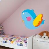 Naklejka ścienna Dla Dzieci - Niebieski Kurczaczek