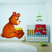 Naklejka ścienna Dla Dzieci - Niedźwiadek i Miód