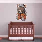 Naklejka ścienna Dla Dzieci - Niedźwiadek Kosmonauta