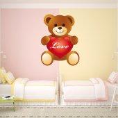 Naklejka ścienna Dla Dzieci - Niedźwiadek Love