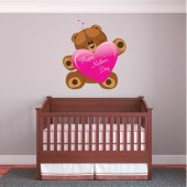 Naklejka ścienna Dla Dzieci - Niedźwiadek na Dzień Matki
