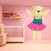 Naklejka ścienna Dla Dzieci - Niedźwiadek Tancerka