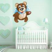 Naklejka ścienna Dla Dzieci - Niedźwiadek wystawia Język