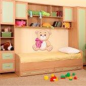 Naklejka ścienna Dla Dzieci - Niedźwiadek z Kokardką