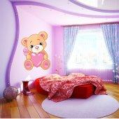 Naklejka ścienna Dla Dzieci - Niedźwiadek z Serduszkiem