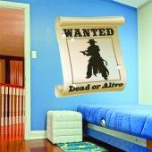 Naklejka ścienna Dla Dzieci - Plakat Wanted